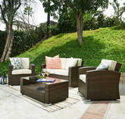 Bahia 4 Pieces Outdoor Wicker Coversation Set - FHM1010