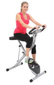 EXERPEUTIC Space Saver Magnetic Upright Bike with Pulse - FPM4101