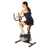 PROGEAR COMPACT UPRIGHT BIKE WITH HEART PULSE MONITORING - FPM4128