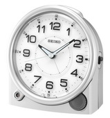 Aqua Pear Alarm Clock with Quiet Sweep Second Hand by Seiko - GSK4918