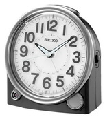 Aqua Pear Alarm Clock with Quiet Sweep Second Hand by Seiko - GSK4920