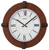 Aqua Pear 12in Wooden Quiet Sweep Wall Clock by Seiko - GSK4932