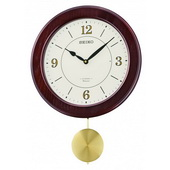 Seiko Brown Wooden Musical Wall Clock 12 Hi-Fi Melodies or Chime - GSK4902