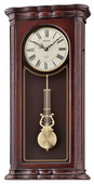 Seiko Deluxe Dark Brown Wooden Musical Wall Clock - GSK4954