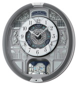 Seiko Deluxe Melodies in Motion  Musical Wall Clock - GSK4958