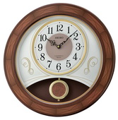 Aqua Pear Deluxe Melodies in Motion Wooden Musical Wall Clock by Seiko - GSK4960