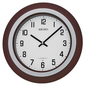Aqua Pear 15.5in Contemporary Wooden Musical Wall Clock by Seiko - GSK4962