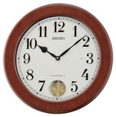 Seiko 15.5in Wooden Musical Wall Clock - GSK4964
