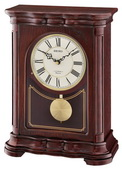 Seiko Deluxe Dark Brown Wooden Chiming Musical Mantel Clock - GSK4982