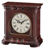 Seiko Dark Brown Wooden Musical Table Clock - GSK4984