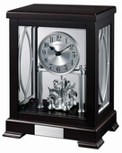 Aqua Pear GTB31180 Deluxe Solid Hardwood TableTop Clock by Bulova