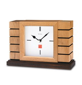 Bulova Solid Wood With Natural Finish Mantel Clock - GTB6096