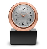 Aqua Pear Deluxe Rotating Quartz TableTop Clock by Bulova - GTB31336