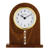 Bulova Hardwood Brown Cherry Finish Tabletop Clock - GTB31498