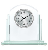 Bulova Glass Table Clock with Alarm - GTB31420