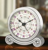 Bulova Fashion Trend Crystal Accents Alarm Clock - GTB6312
