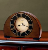 Bulova Wood Case With Antique Walnut Finish Tabletop Clock - GTB6326