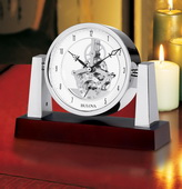 Aqua Pear GTB6348 Deluxe Executive Tabletop Quartz Clock by Bulova
