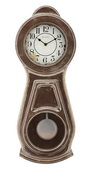 Aqua Pear Deluxe Chiming Wooden Wall Clock by Bulova - GTB31369