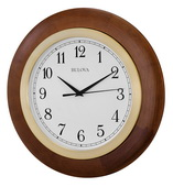 18in Bulova Deco Wall Clock Smooth Sweep Seconds Hand - GTB31258