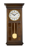 Aqua Pear Deluxe Triple Chiming Wooden Wall Clock in Antique Walnut Finish by Bulova - GTB31147