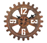 18in Bulova Rotating Metal Seconds Gear Wall Clock - GTB31168