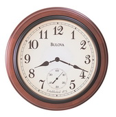 Bulova 16in Solid Wooden Wall Clock Quartz - GTB6618