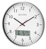 Aqua Pear GTB31165 Deluxe 13.75in Wall Clock Quiet Sweep Seconds Hand by Bulova
