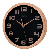 14in Bulova Wall Clock Smooth Sweep Silent Clock - GTB31291