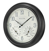 Aqua Pear Deluxe 18in Illuminated Indoor & Outdoor Wall clock Auto LED Light by Bulova - GTB31156