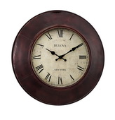 Bulova GTB31387 18in Bronze Metal Wall Clock