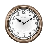 Bulova 14in Indoor/Outdoor Wall Clock - GTB31390