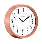 Aqua Pear Deluxe 8.75in Metal Wall Clock by Bulova - GTB31396