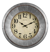 Bulova 20in Metal Quartz Wall Clock - GTB31429