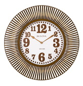 Bulova Deluxe 28.75in Sunburst Metal Wall Clock - GTB31438