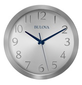 Aqua Pear Deluxe 10in Contemporary Wall Clock by Bulova - GTB31441