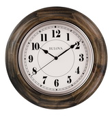 Bulova 16in Wall Clock with Solid Hardwood Case - GTB31450