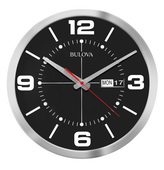 Bulova 14in Quiet Sweep Calender Wall Clock - GTB31453