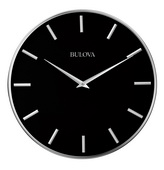 Aqua Pear Deluxe 16in Contemporary Metal Wall Clock by Bulova - GTB31456