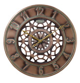 Aqua Pear Deluxe 16in Indoor/Outdoor Wall clock by Bulova - GTB31468