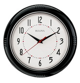 Bulova 9.64in Quiet Sweep Kitchen Wall Clock - GTB31474
