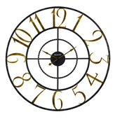 Aqua Pear Deluxe 60in Metal Statement Wall Clock by Bulova - GTB31477