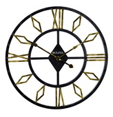 Bulova Deluxe 36in Oversized Metal Wall Clock - GTB31480