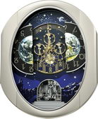 Rhythm Deluxe 30 Melodies Musical Wall Clock Including Holiday Songs - GTM2622