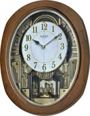Rhythm Deluxe 30 Melodies Wooden Musical Wall Clock Including Holiday Melodies - GTM2648
