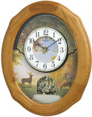 Rhythm GTM2704 Deluxe 30 Melodies Musical Wall Clock Including Holiday Songs