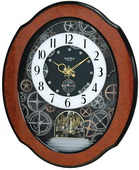 Rhythm GTM2708 Deluxe 30 Melodies Musical Motion Wall Clock Including Holiday Songs