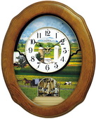 Rhythm GTM2710 Deluxe 30 Melodies Musical Motion Wall Clock Including Holiday Songs