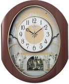 Rhythm GTM2718 Deluxe 30 Melodies Musical Motion Wall Clock Including Holiday Songs