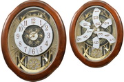 Rhythm Deluxe 30 Melodies Wooden Musical Wall Clock Including Holiday Songs - GTM2638